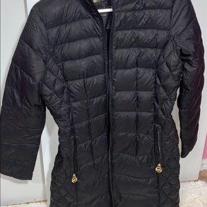Hooded Michael Kors down jacket.
